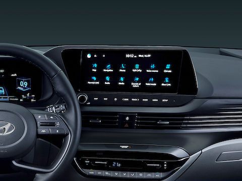 10.25in centre touchscreen