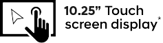 10.25 Inch Touchscreen