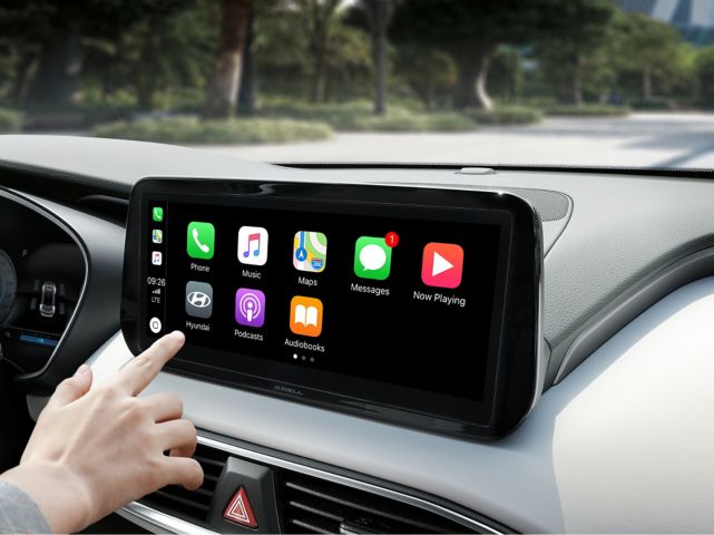 The feature voice control in the new Hyundai Kona Hybrid compact SUV.